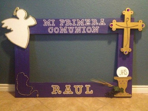 décor photobooth confirmation communion