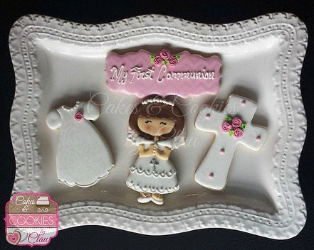 sablé décoré communion biscuit décoré confirmation