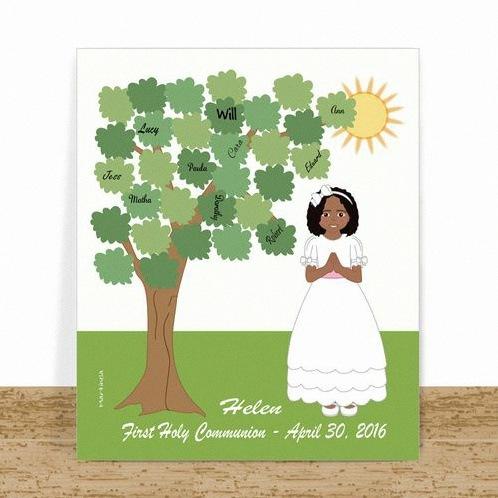 arbre à empreintes communion profession de foi