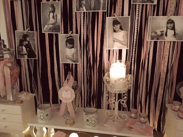 décoration première communion shabby chic