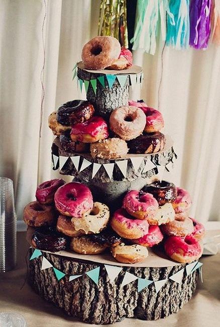 pyramide de donuts
