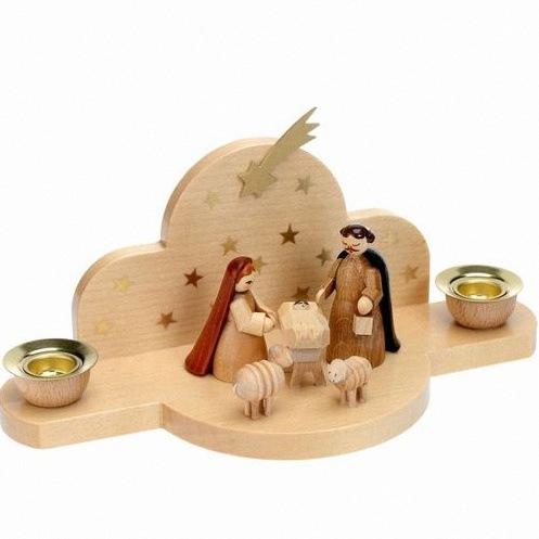 Joli cadeau de communion une cr che de no l en bois - Ou acheter du papier cadeau ...