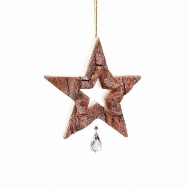 étoile pour sapin en bois