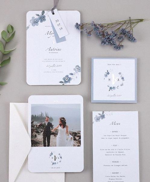 faire part de mariage fleurs