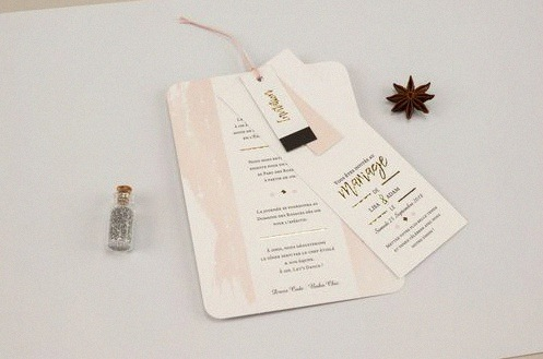 faire-part mariage or