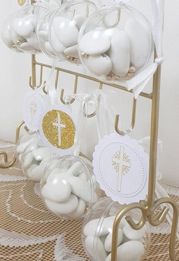 décoration première communion blanc et doré