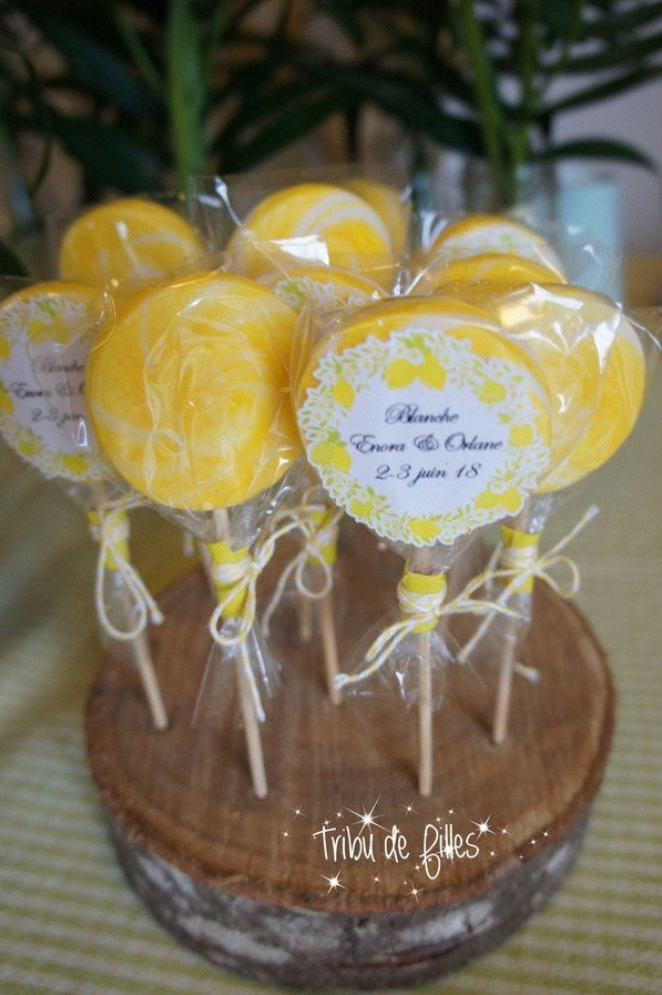 décoration communion déco citron